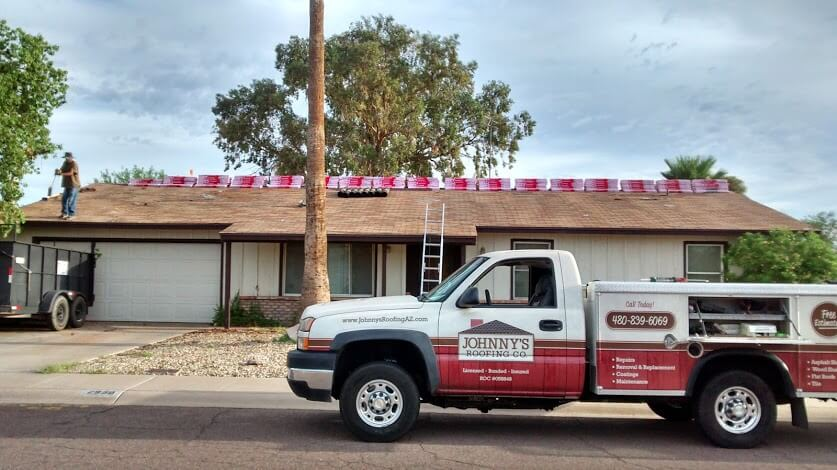 Mesa, Arizona roof replacement by Johnny's Roofing Company